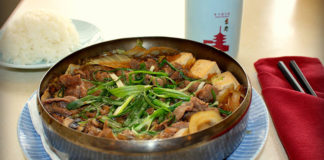 Kyoto Japanese Restaurant - beef sukiyaki. Credit, Kyoto
