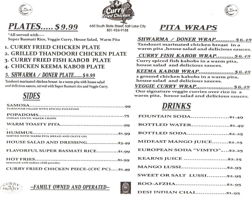 Texas Fried Chicken Menu Fried Chicken Menu Share This