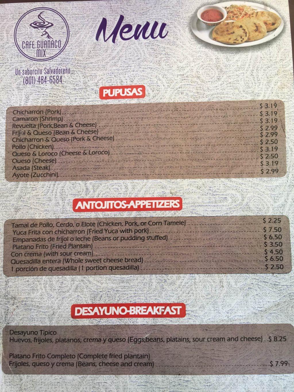 cafe guancao south salt lake menu page one