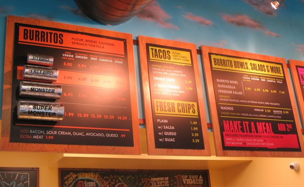 freebirds world burrito menu one