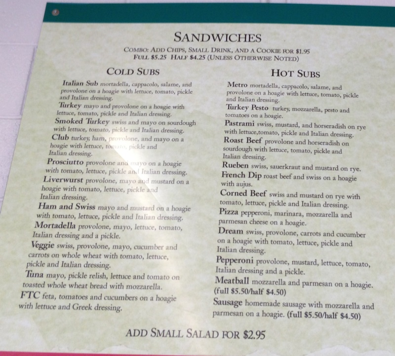 mediterranean market and deli menu one