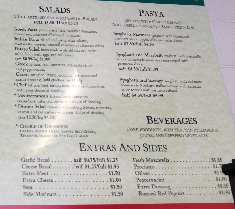 mediterranean market and deli menu three