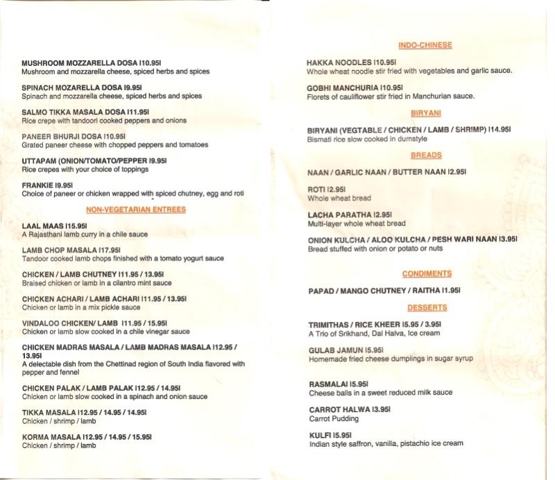 copper bowl menu two