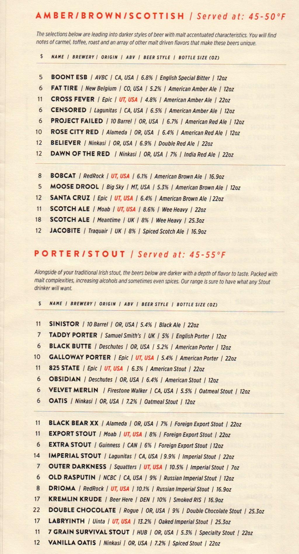 Beer Bar menu 6