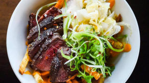 Copper Common - SRF coulotte steak, fries, kimchi, gochujang aioli, cilantro. Credit CC
