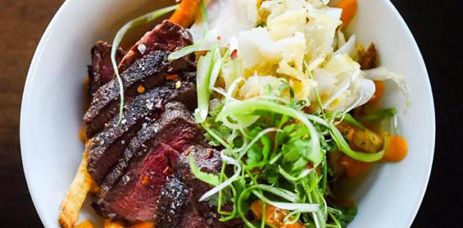 Copper Common - SRF coulotte steak, fries, kimchi, gochujang aioli, cilantro. Credit CC