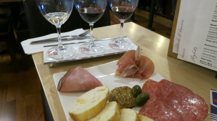 vino volo ale house slc airport cured meats and wine flight