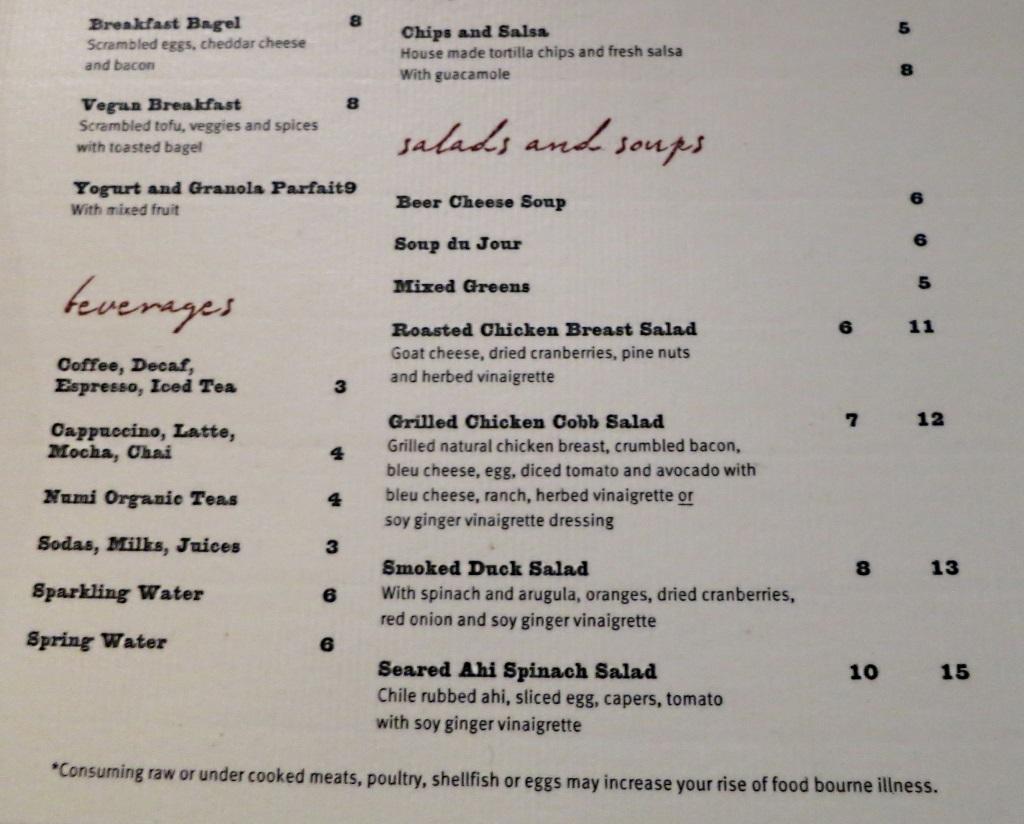 vino volo ale house slc airport salads and soup menu