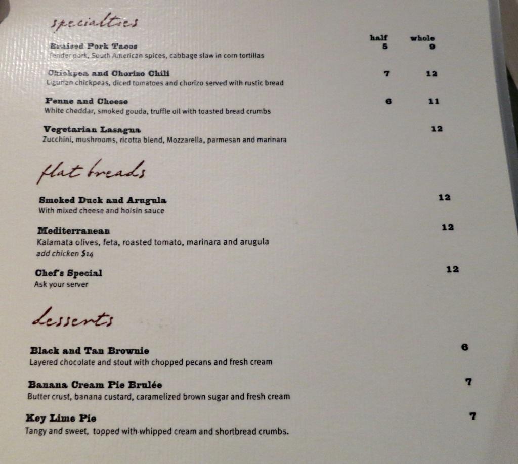 vino volo ale house slc airport specialties menu