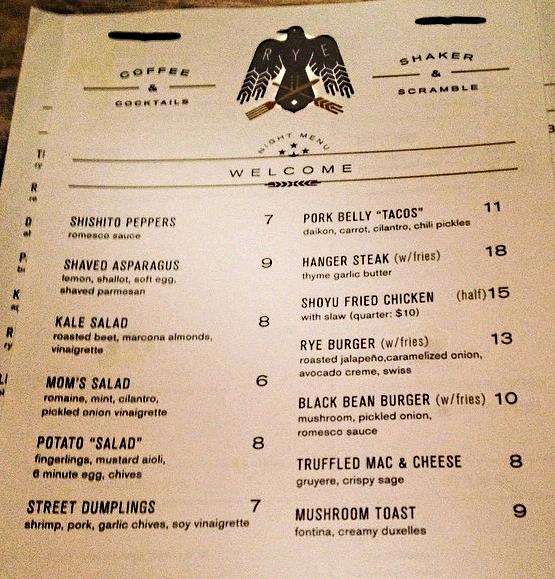 rye menu