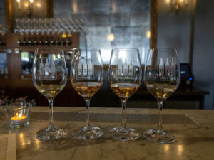 BTG Wine Bar - rose wine flight
