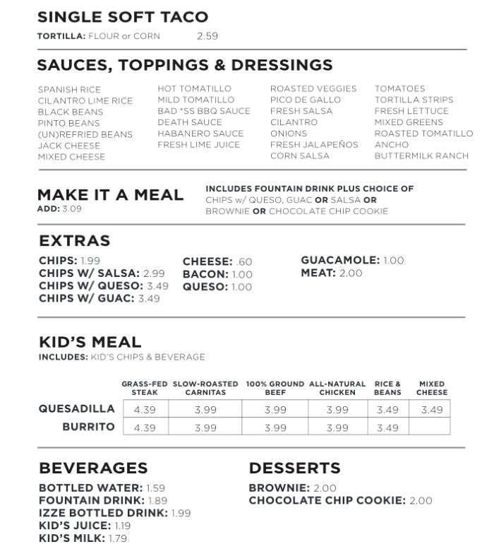 freebirds world burrito sugarhouse menu two