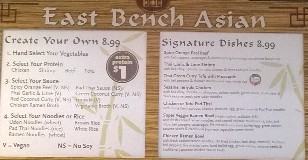 Whole Foods Trolley Square east bench asian menu