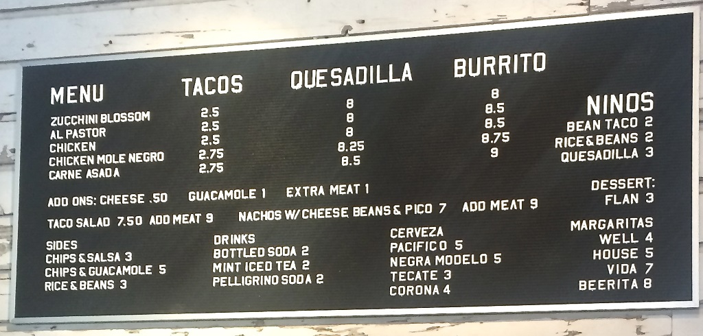 taco taco menu in salt lake city