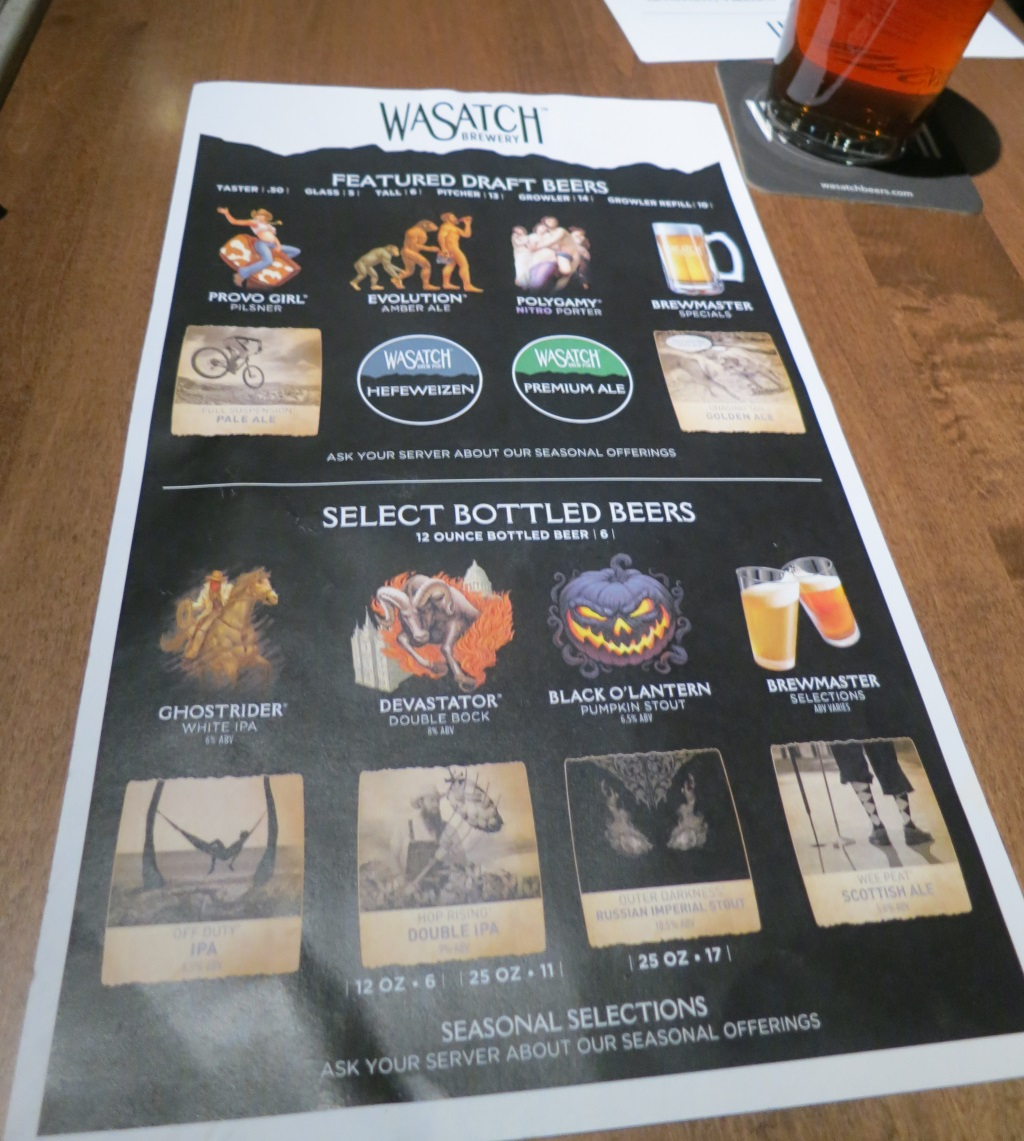 wasatch brew pub in sugarhouse menu three