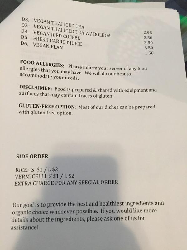 All Chay menu page six