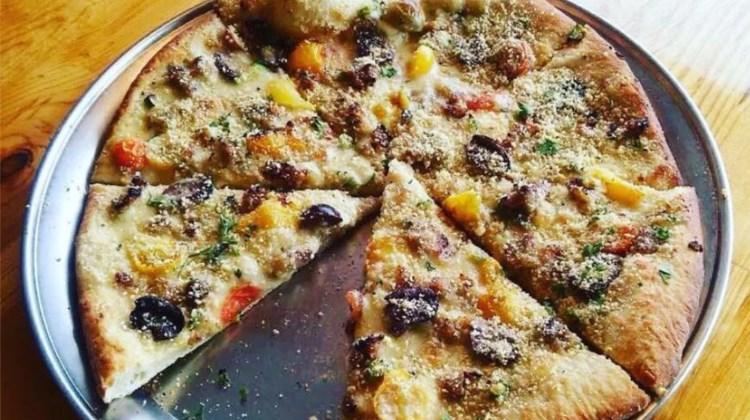 Vertical Pizza menu