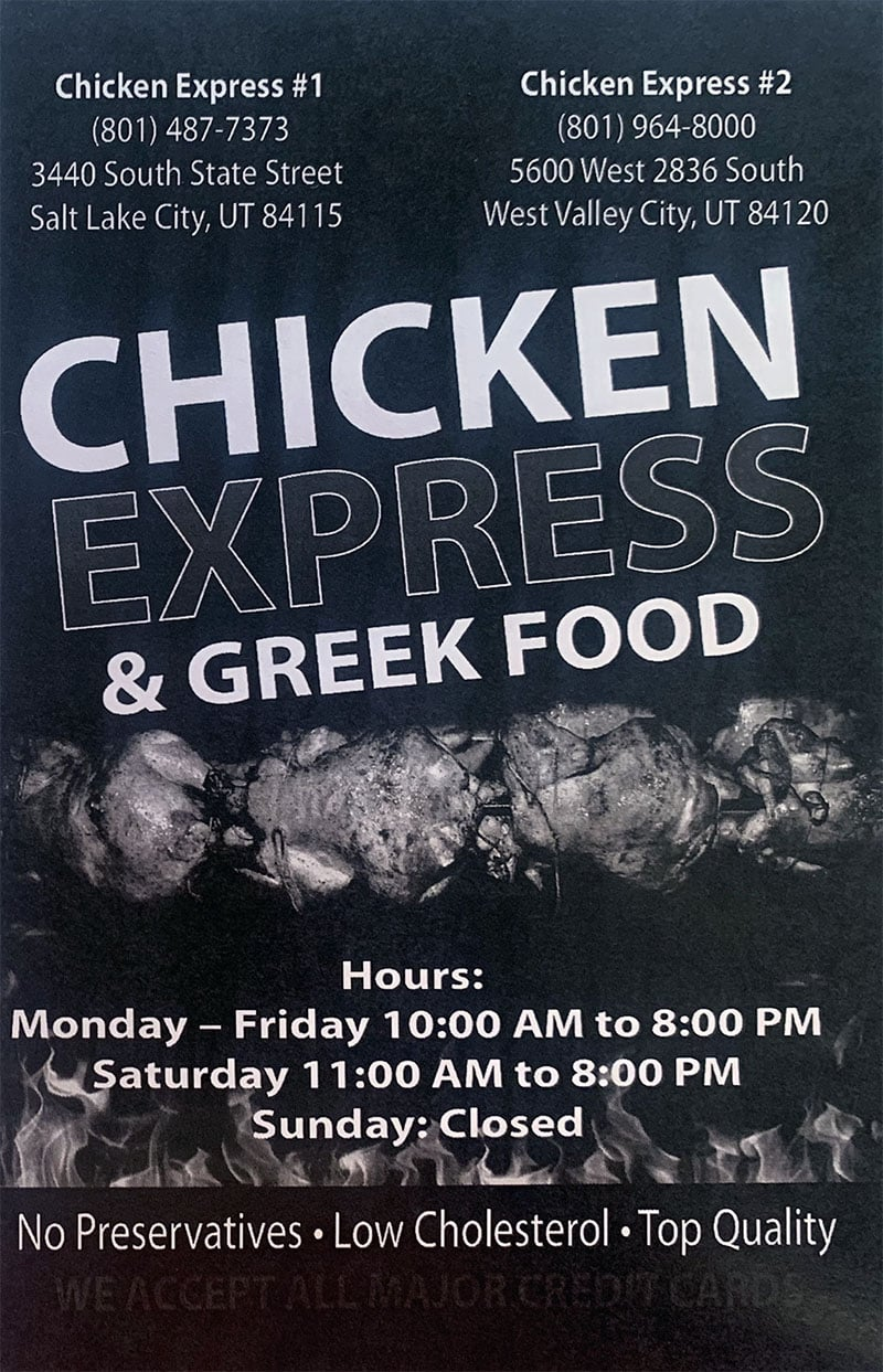 Chicken Express menu - info