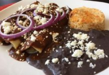 The Eklektik menu - mole enchilada special. Credit, Facebook.