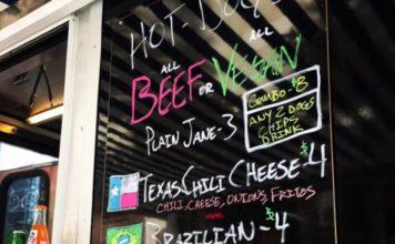 Gerlach's food truck menu June 2017