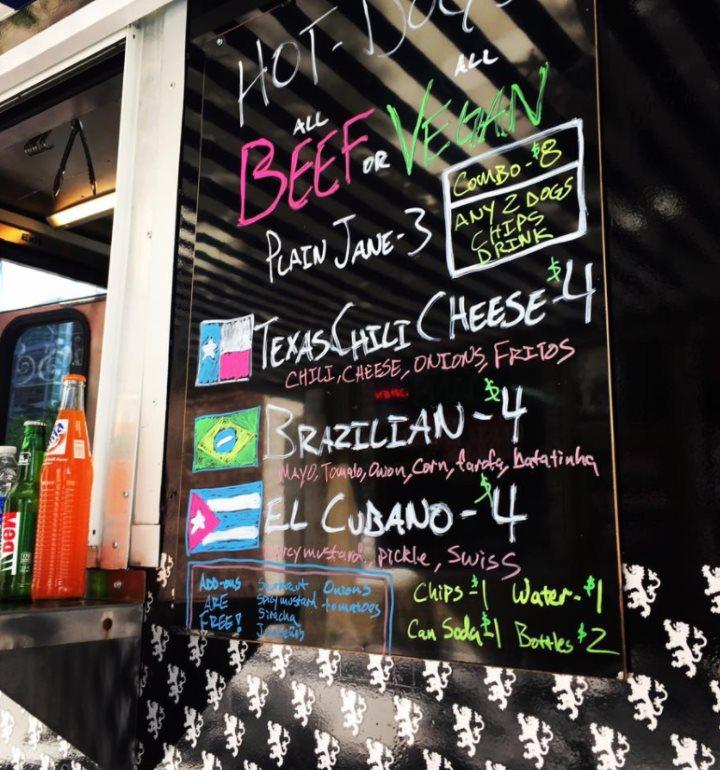 Gerlach's food truck menu
