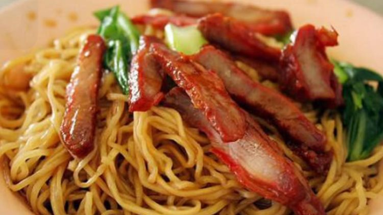 Zabb Noodles menu - BBQ pork with egg noodles. Credit, Zabb Noodles