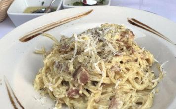 Dolce Sicilia Sugar House - carbonara pasta. Credit Dolce