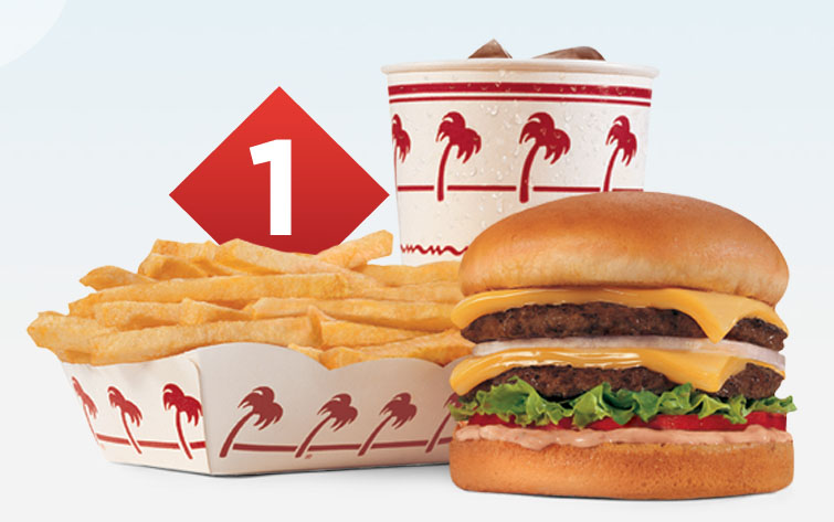 In N Out burger - number one combo - Credit In N Out