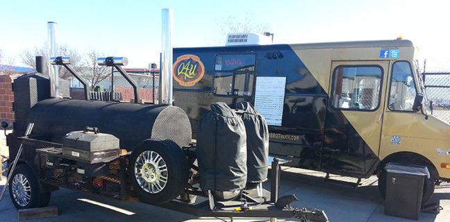 Q4U BBQ food truck and smoker rig