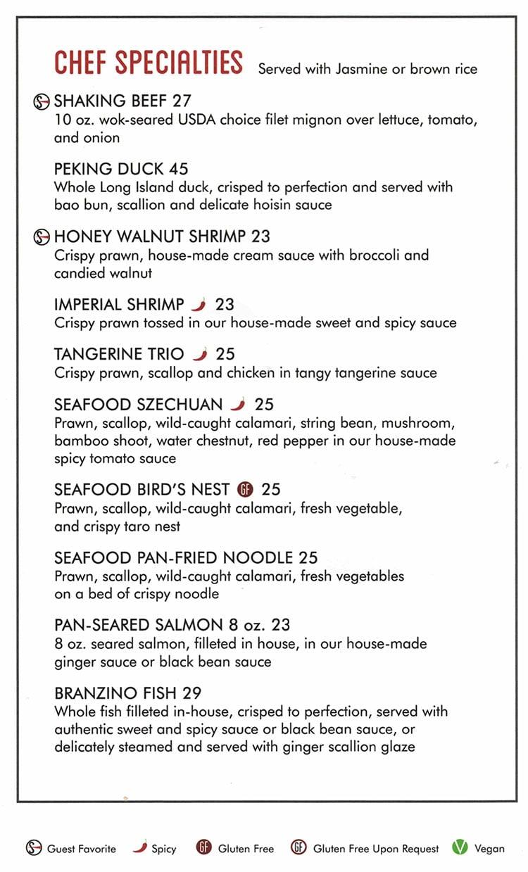 SOMI Vietnamese Bistro menu - chef specialties