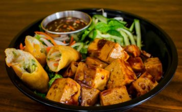 Ginger Tofu Noodle Salad (Vegan Bowl)