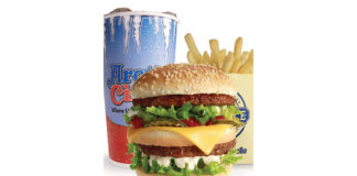 Arctic Circle - Black Angus burger fries and shake. Credit Arctic Circle