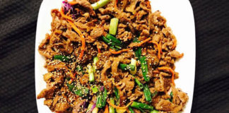 Ahtti Korean Munchies food - beef bulgogi. Credit, Ahtti