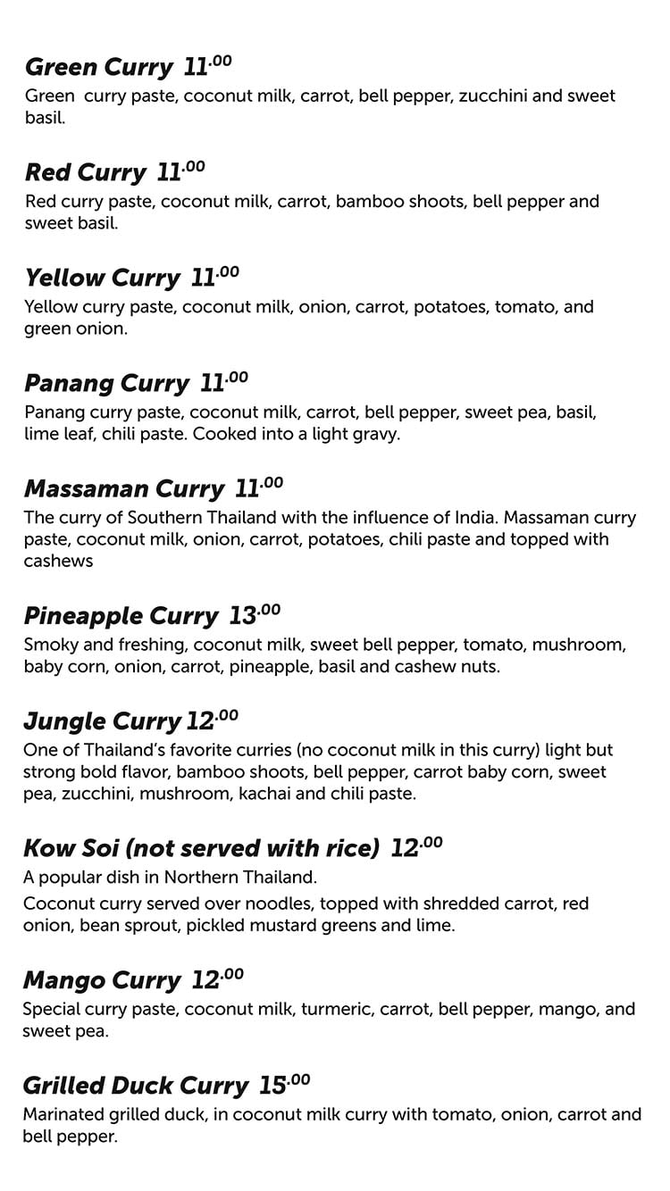 Chabaar menu - curry