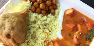 Curry Time food truck, combo platter. Credit Curry Time