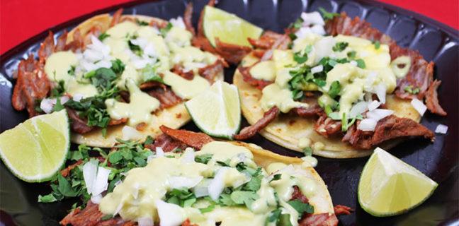 El Morelense - tacos al pastor. Credit, el Morelense