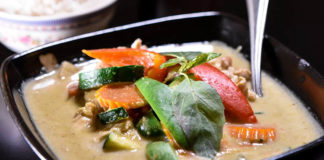Siam Noodle Bar - green curry. Credit SNB