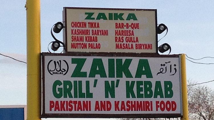 Zaika Grill N Kebab menu