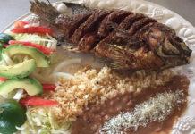 Julias Mexican Food - mojarrita frita. Credit Teresa Trujillo and Julias Facebook page
