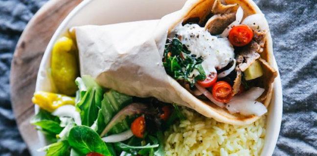 GR Kitchen - gyro and salad (GR kitchen)