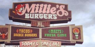 Millie's Burgers sign (Millie's)