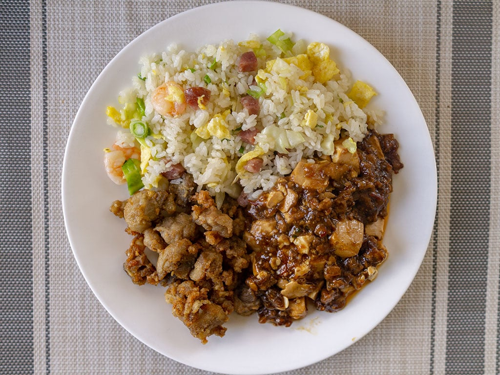 Moms Kitchen - Moms special fried rice with mapo tofu