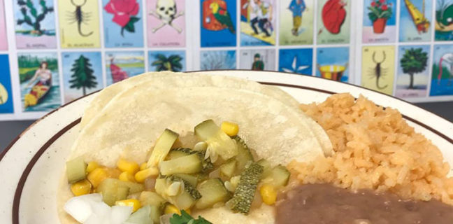 Taqueria Los Lee - vegan tacos with squash and corn (Taqueria Los Lee)