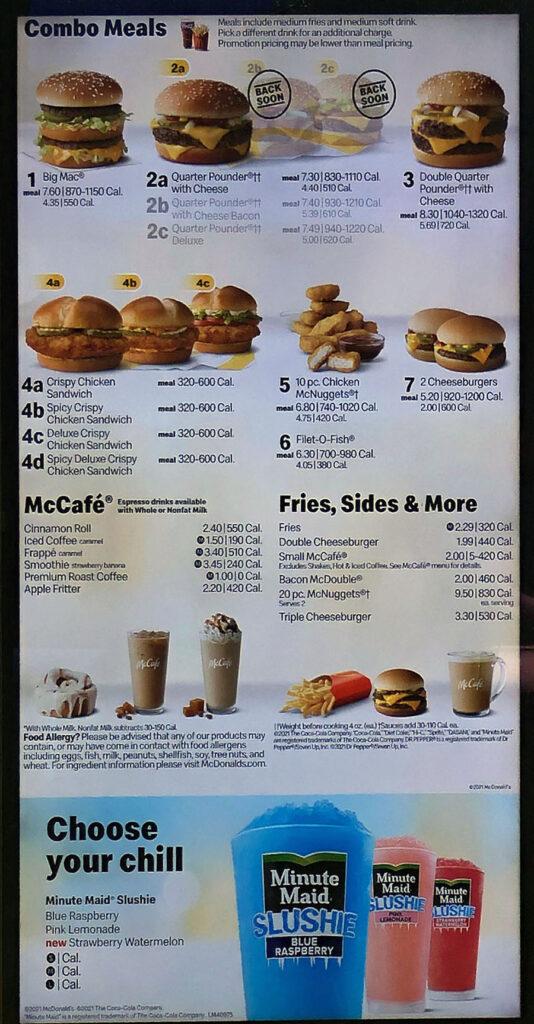 McDonalds Salt Lake City Utah June 2021 - one