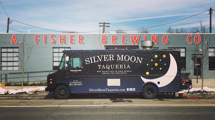 Silver Moon Taqueria food truck at Fisher Brewing (Silver Moon Taqueria)