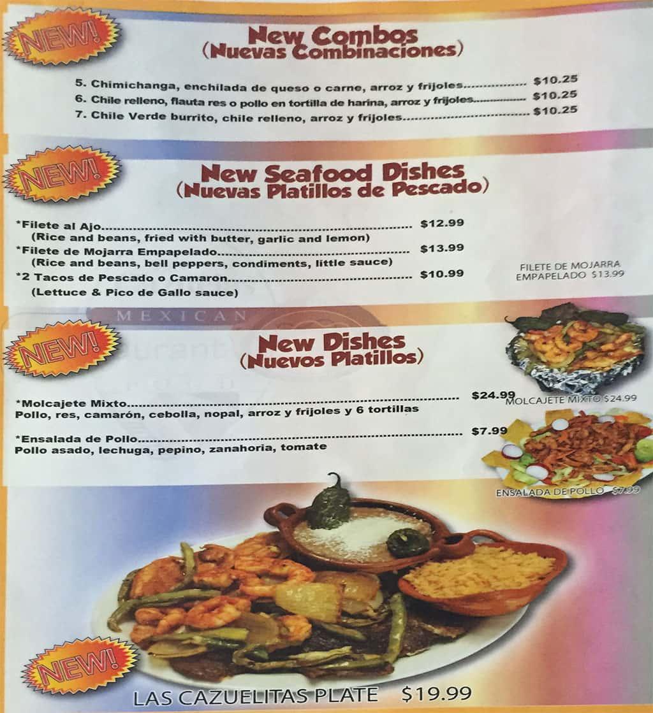 Las Cazuelas menu - new items
