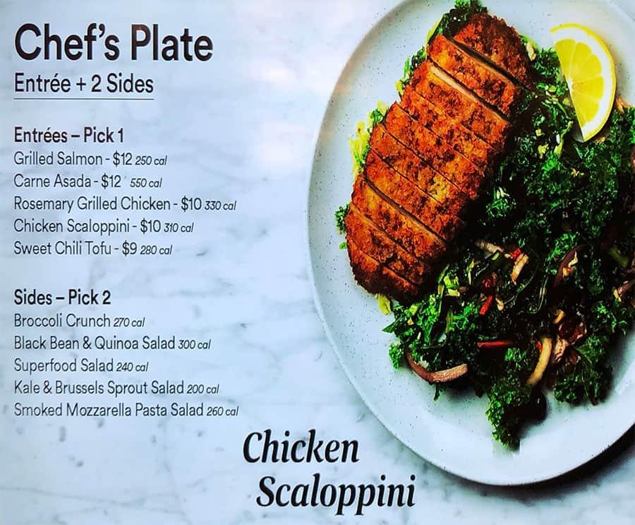 Whole Foods Sugar House menu - chef's plate