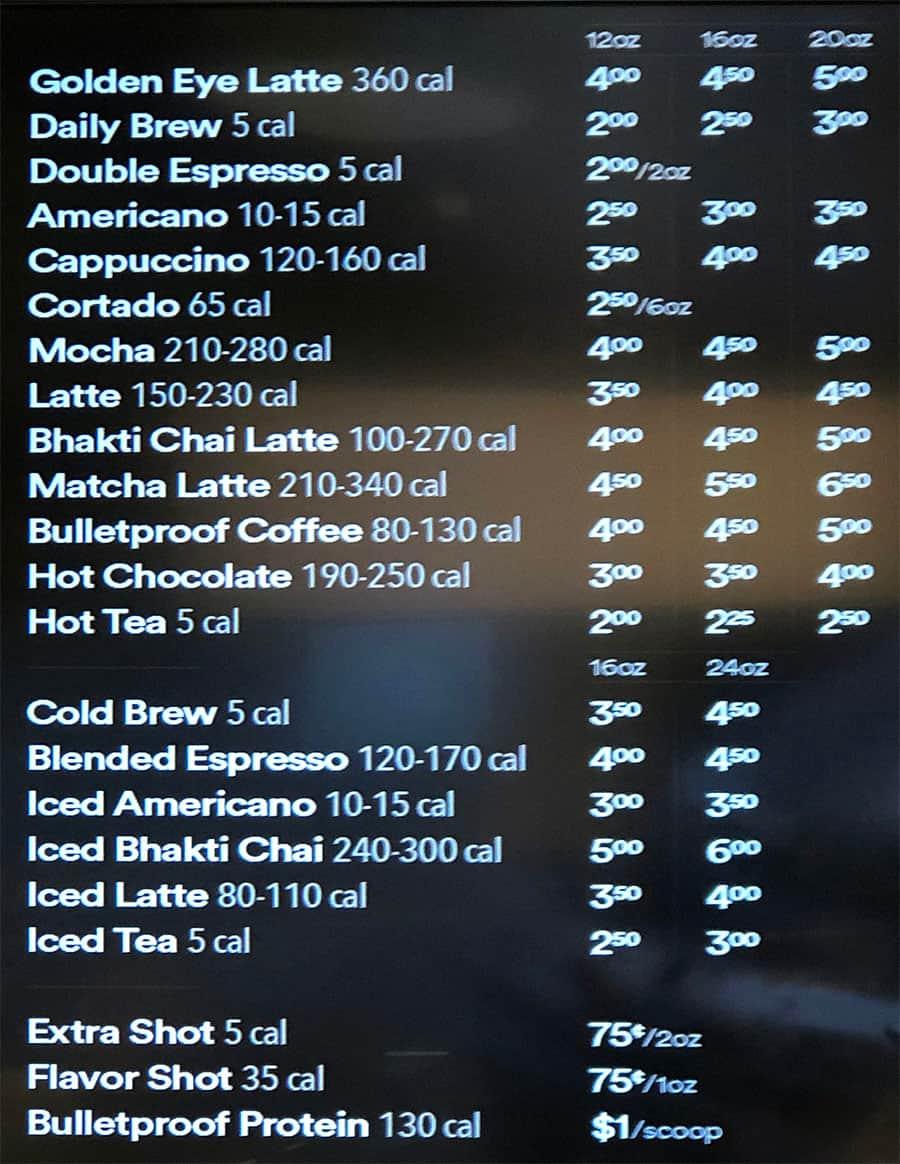Whole Foods Sugar House menu - coffee