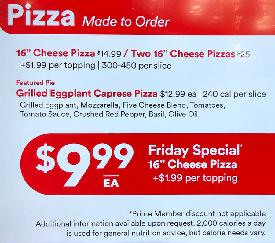 Whole Foods Sugar House menu - pizza