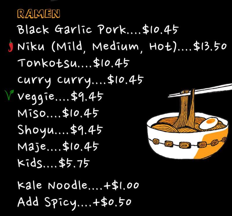Ramen 930 Downtown SLC menu - ramen